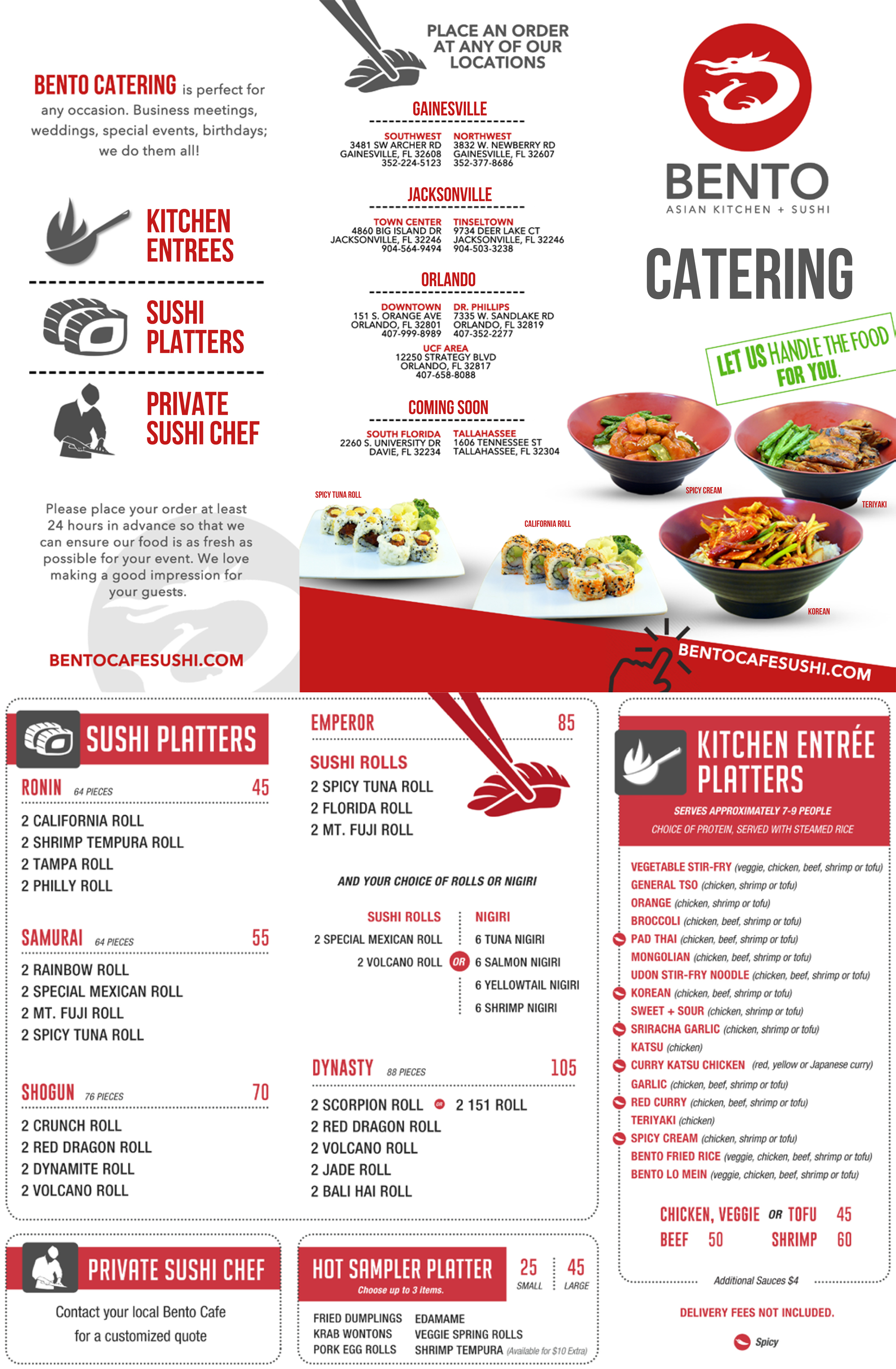 CATERING – Bento Cafe